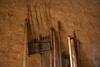 农村农用具竹耙子