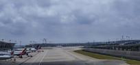 浦东机场全景拍摄