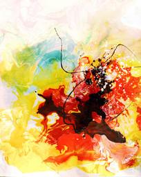 水墨 高清抽象油画图片