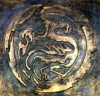 铜雕龙风图案