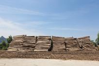 香杉木材堆放现场