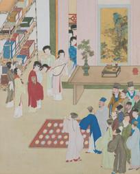 金瓶梅插图之四傻西门引新娘见醉客