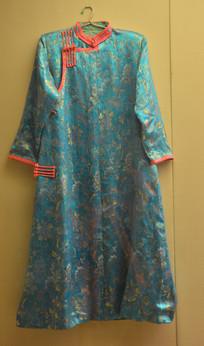 清朝蒙古女士衣服