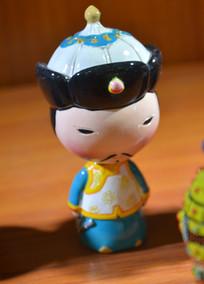 收藏品蒙古族瓷玩偶
