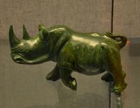 友谊外交文物石雕犀牛