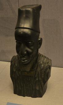 友谊外交文物乌木雕老人胸像
