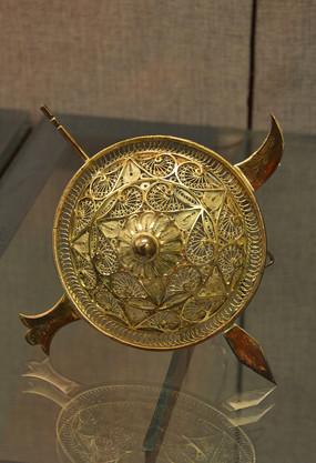 友谊外交文物银掐丝手工艺品