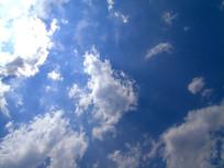 白云蓝天太阳素材