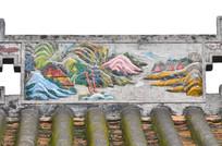 彩色山水风景浮雕艺术