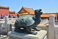 雕塑故宫玄武