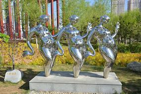 雕塑作品广场舞