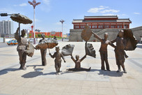 雕像陕北民间舞蹈