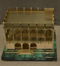 镀金银卡塔尔传统建筑模型