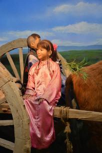 蜡像蒙古族少女