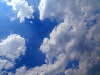 漂亮的白云蓝天背景