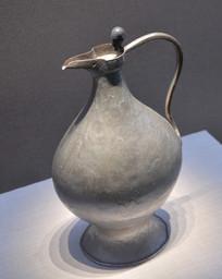 文物波斯银壶