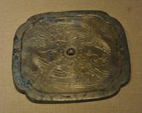 文物花鸟纹铜镜