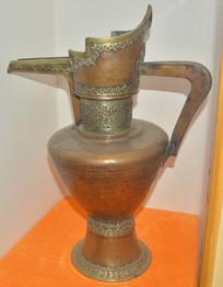 文物紫铜奶茶壶