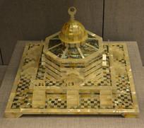 友谊外交文物贝雕清真寺模型盒