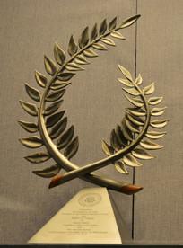 友谊外交文物金属橄榄枝摆件