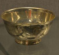 友谊外交文物刻美国国会徽章银碗