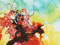 抽象画 新中式风格 现代水墨
