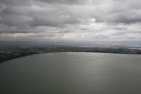 高空鸟瞰滇池美景