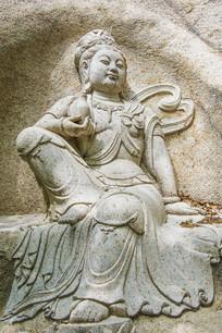 千山中会寺石雕净瓶观音全图