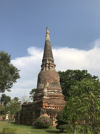 泰国 尖顶佛寺建筑