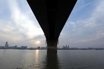 武汉二桥小的风光