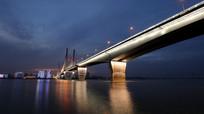 夜色渐浓的二桥
