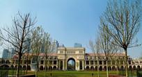 天津民园体育场正门全景