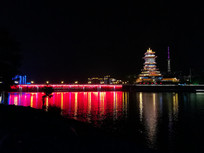 东方红大桥与越王楼夜景