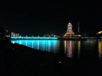 美丽的绵阳涪江夜景