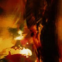 现代简约抽象油画无框画