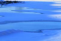 冰河暮色景观
