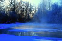 冰河森林雾凇