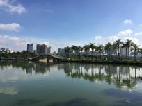 公园石桥景