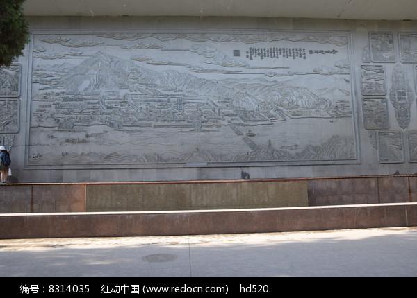 白塔山石刻风貌图