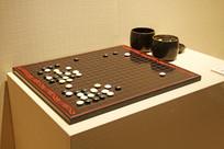 清代漆器围棋盘盒三件套