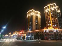 清镇职教城商业广场夜景