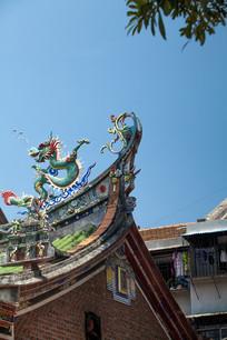 中国老建筑屋檐
