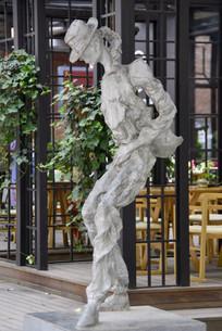 迈克尔杰克逊舞蹈表演塑像