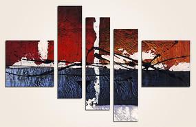 五联抽象油画