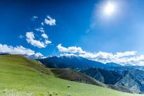 待普僧森林公园雪山远景