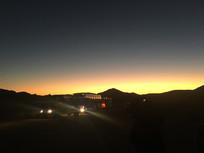 非洲沙漠落日