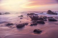 日落时间的海滩