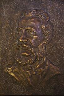 铜雕贝尔头像
