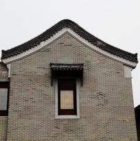 徽派建筑灰色墙面