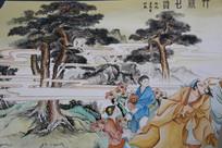 竹林七贤彩色绘画